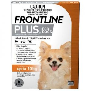 Frontline Plus For Dogs 10 To 20kg 22 To 44lbs 6 Month Mega Pet Supplies